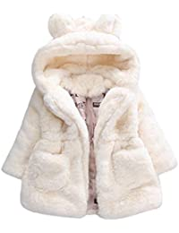 Amlaiworld Bebés niña otoño invierno Abrigo con capucha chaqueta gruesa ropa de abrigo 12 Mes - 4 Años
