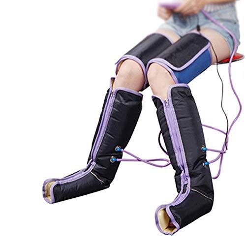 clauking aparato de masaje para pies piernas, masajeador de pies piernas de compresión de aire con 9modos para aliviar la fatiga améliorer la circulación sanguínea