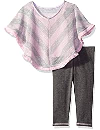 Youngland Baby Girls' Poncho Tunic with Grey Knit Legging
