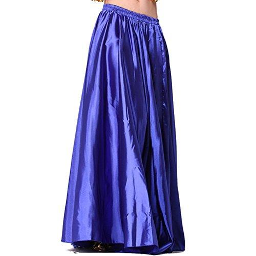 MUNAFIE Damen Teller Rock Gr. One size, navy (Double Slit Skirt)