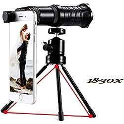 Monoculaire télescope lentille de caméra 18x-30x Zoom trépied de caméra flexible regarder le jeu, concerts, tourisme, observer les amoureux des animaux, journaliste de reportage de longue distance