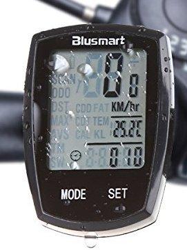 Computer da Bicicletta, Blusmart wireless ciclocomputer impermeabile sveglia automatica Ampio display LCD retroilluminato sensore di movimento all'aperto in bicicletta in tempo reale velocità su pista