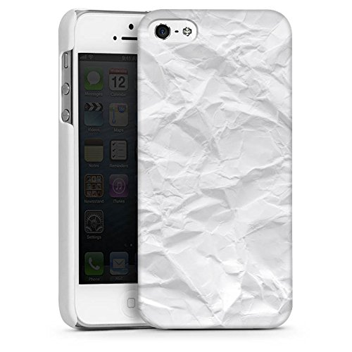 Apple iPhone 5s Housse Outdoor Étui militaire Coque Papier Feuille Motif CasDur blanc