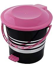 Kuber Industries Plastic Dustbin Garbage Bin with Handle,5 Liters (Pink) -CTKTC037970