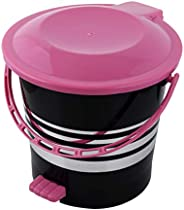 Kuber Industries Plastic Dustbin Garbage Bin with Handle,5 Liters (Pink) -CTKTC037970