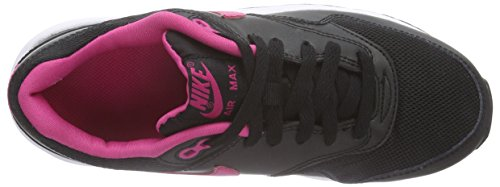 Nike Unisex-Kinder Air Max 1 (Gs) Low-Top Schwarz (Black/Vivid Pink-White)