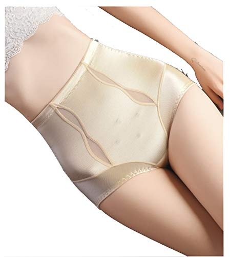 Control Panty Plus (YAFEIYA Frauen High Waist Control Panties, Seamless Plus Size Shapewear Taille Coach Body Shaper, Reduziert Shaper und Shaper,Beige,L)