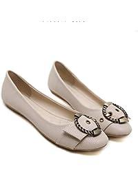 HhGold Zapatos Planos Informales de Cuero para Mujer, Zapatos de conducción acogedores, Zapatos con