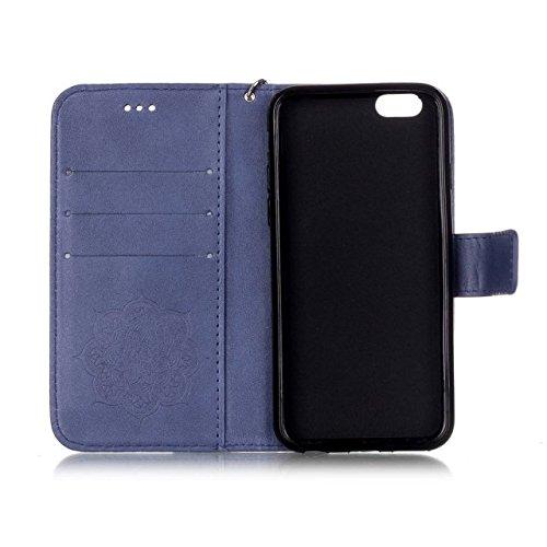 iPhone Case Cover Peint à la mode de couleur Wallet Style Case Magnétique Design Flip Folio PU Housse en cuir Housse de standup pour IPhone 6S Plus ( Color : Deongaree , Size : IPhone 6S Plus ) Deongaree