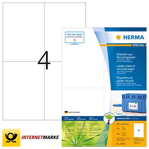 color azul Pack de 2400 etiquetas 70 x 37 mm Herma 4408
