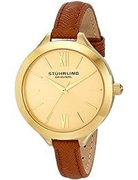 Stührling Original 975.03 - Reloj analógico para mujer, correa de cuero, color marrón