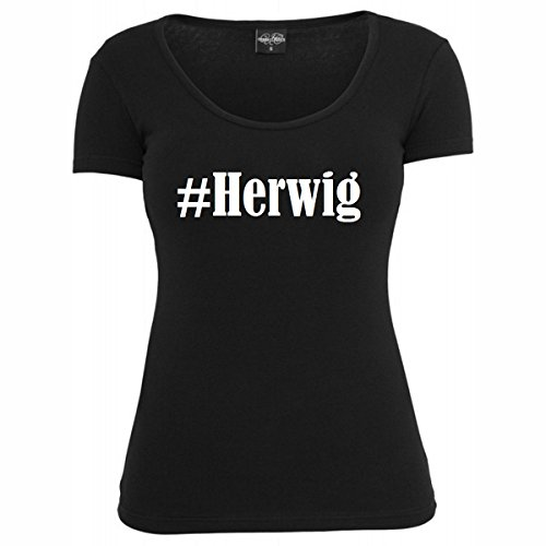 T-Shirt #Herwig Hashtag Raute für Damen Herren und Kinder ... in den Farben Schwarz und Weiss Schwarz