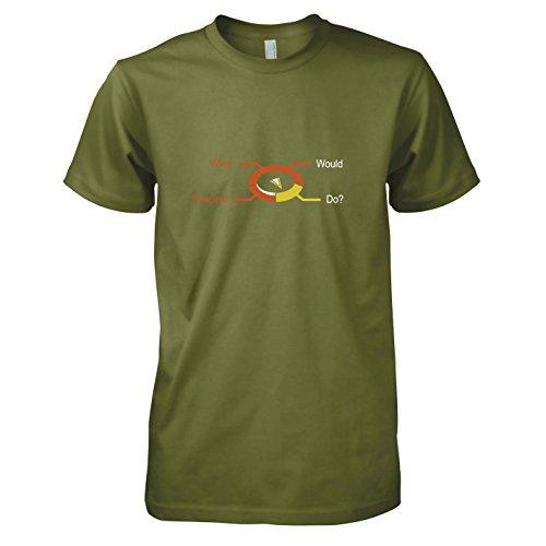 TEXLAB - What would Shepard do - Herren T-Shirt Oliv