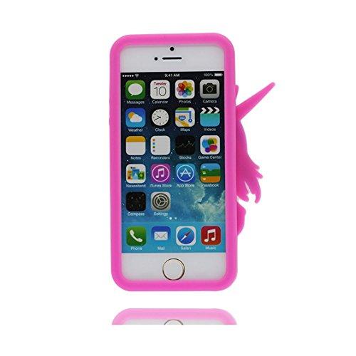 iPhone 5 Custodia, Copertura Premium TPU Nuovo design durevole Prezzo basso in iPhone 5S case 3D Unicorno per iPhone 5 5s SE 5C 5G ( Nero ) rosa 2