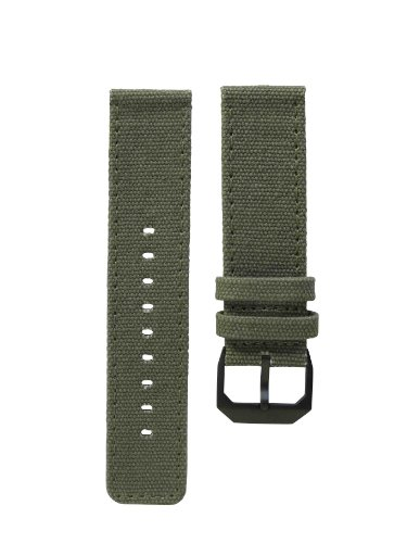 slow - Olive Green Canvas Strap, Black Buckle (Canvas Strap Olive)