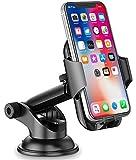 Cocoda, Supporto per Telefono da Auto, per cruscotto/Parabrezza, Rotazione a 360°, Braccio Estensibile con Pulsante di sgancio rapido, per iPhone, Samsung, Huawei, Xiaomi, ECC.