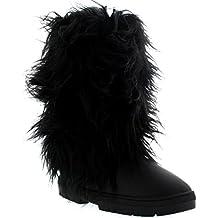 094e3923f2 Holly Damen Long Fur Covered Regen Pelz Gefüttert Winter Warm Tall Schnee  Stiefel