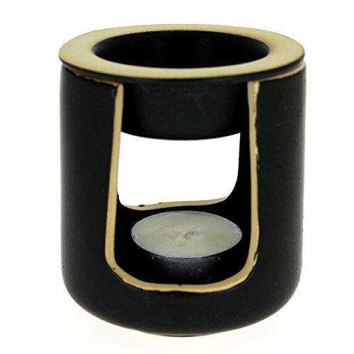 Brûle-parfum en céramique, kit de fumigation - Noir - Douces Angevines