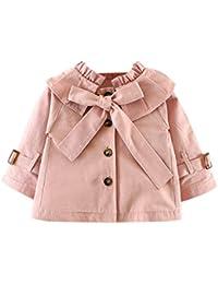 De feuilles Manteau Cape Bébé Fille Vest Blouson Gilet Manches Longues avec  Bouton pour Enfants 6 a426ead0f70