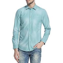 Jack & Jones Men's Casual Shirt (5713610879762_12125966Aqua Green_X-Large)
