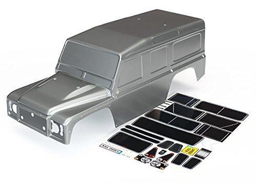 Traxxas Automarke 8011X 1/10Maßstab Land Rover Defender Körper, graphit silber (Graphit Körper)