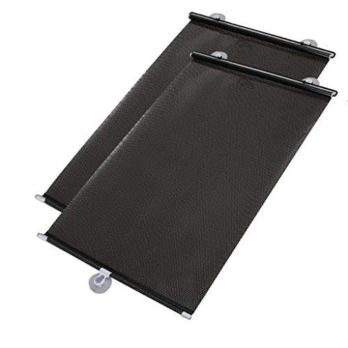 SUN-Feng Autofenster Rollladen, Windschutzscheibe Sonnenblende Automatische Expansionsvorhang Anti-UV Mehrere Stile Schützen Sie Ihre Familie Und Haustiere -2 stücke (Color : B, Size : 125 * 50CM)