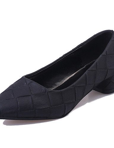 WSS 2016 Chaussures Femme-Bureau & Travail / Soirée & Evénement / Décontracté-Noir / Vert / Gris / Beige-Gros Talon-Talons / Bout Pointu- green-us8 / eu39 / uk6 / cn39