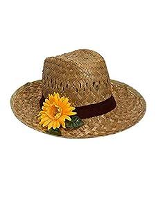 WIDMANN 14232Farmer Sombrero con Girasol, Color marrón