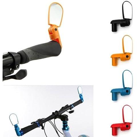 Para bicicleta Ciclismo para bicicleta de manillar de visión trasera de cristal ajustable Bar Mirror.