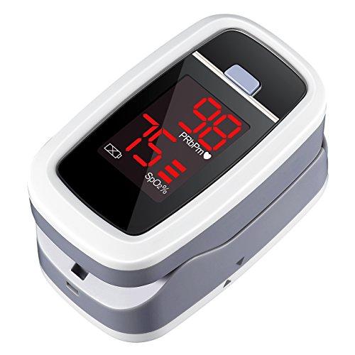 Mpow Pulsossimetro da Dito, Saturimetro da Dito, Ossimetro Portatile Professionale con Cordino,Monitor per Il Livello di Saturazione di Ossigeno nel Sangue e della Frequenza Cardiaca, FDA e CE