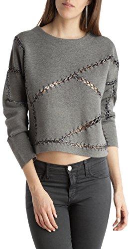BDBA Sweater, Sweatshit à Capuche Sportswear Femme Métallique