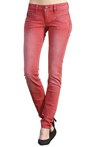 Pants Women Alexa Slim New Magic Color Rio RED M