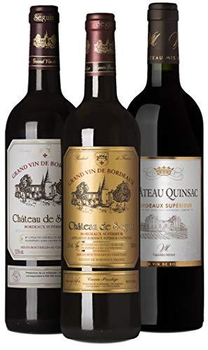 Wine A Porter Bordeaux Entdecker-Set, 3 trockene Rotweine aus Frankreich, Probierpaket für Weinliebhaber, ideales Weingeschenkset, Jahrgänge 2013/14/15, 3 x 0,75 l