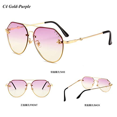 YLNJYJ Kristall Diamant Sonnenbrille Frauen Pilot Sonnenbrille Männer Vintage Gradienten Brille Modemarke Designer Shades Oculos