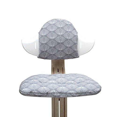 Blausberg Baby - Sitzkissen Set für Nomi Hochstuhl - Fountain grau