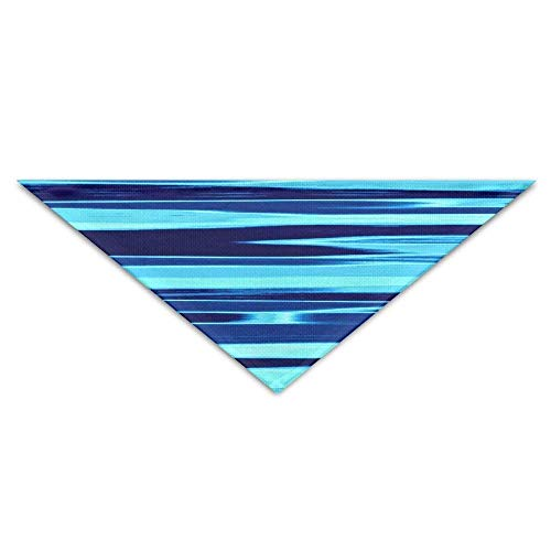Sdltkhy Blue Striped Texture Shadows Triangle Pet Scarf Dog Bandana Pet Collars Dog Cat - Birthday