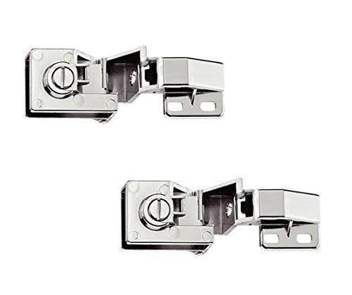 2 Stück - GedoTec® Glastürscharnier Glastürband für Türmontage ohne Glasbohrung   Scharnier vernickelt poliert   Öffnungswinkel 170°   Möbelscharnier für Eckanschlag   Markenqualität für Ihren Wohnbereich