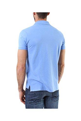 Ralph Lauren Polo Custom Manches Courtes en Piqué de Coton Bleu