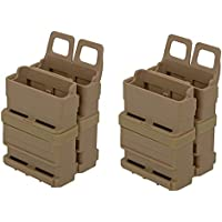 Airsoft VIERERPACK - FastMag 5.56 - M4 - Magazintasche, Molle, Foliage tan, Four Pack MAG Pouch