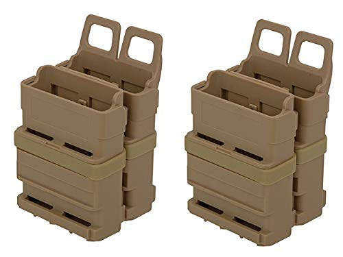 Airsoft VIERERPACK - FastMag 5.56 - M4 - Magazintasche, Molle, DE tan, Four Pack MAG Pouch -