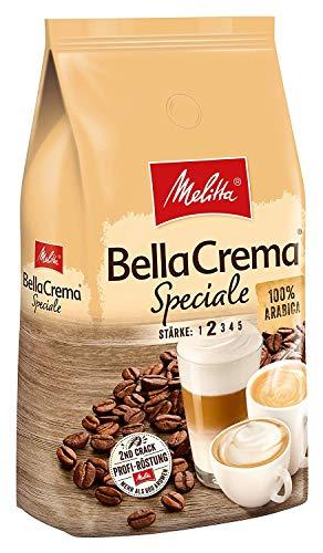 Melitta Ganze Kaffeebohnen, 100{234dda346d1b383b8466ae47a56ed96251d4477837c76c949d58eaeef67b1ad1} Arabica, milder Geschmack, leichter Charakter, Stärke 2, BellaCrema Speciale, 1kg