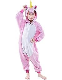 DarkCom Niños Unicornio Mamelucos De Dibujos Animados Pijamas Ropa De Dormir De Halloween Trajes Cosplay