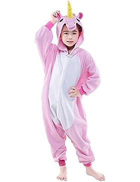 DarkCom Kinder Einhorn-Onesies Cartoon Pyjamas Nachtwäsche Halloween Kigurumi Cosplay Kostüme