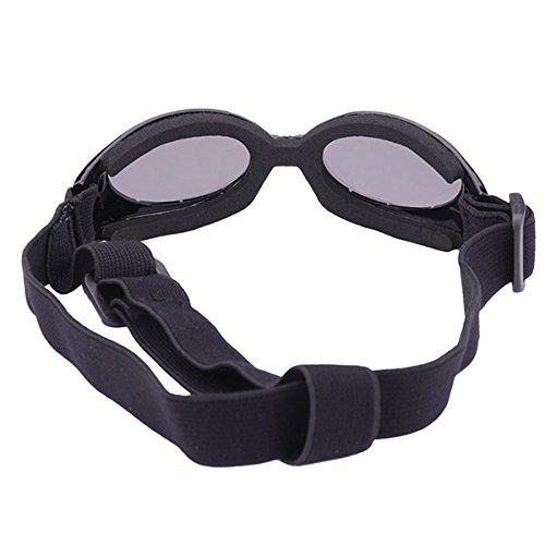 UEETEK Cane di animale domestico UV occhiali da sole occhiali da sole occhiali da sole protettivi con cinturino regolabile per cucciolo cane Cat(Black) yjZ9P
