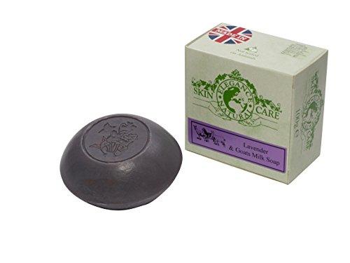Ziegenmilch Seifen (Lavendel) 100g Psoriasis Ekzem Trockene Haut Dermatitis Rosacea Hergestellt in Großbritannien von Elegance Natural Skin Care (Ziegen Milch Seife)