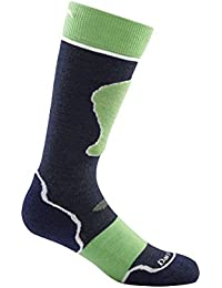 Navy/Green Medium Darn Tough Junior OverTheCalf Padded Cushion Sock
