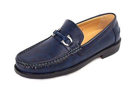 Pour Hommes Chaussures À Enfiler Mocassin Moccasin Élégant Créateur Mode Travail Décontracté Taille 6-12 Bleu