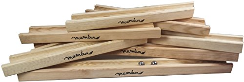 Ingbertson Große Mumba XXL Holz Kugelbahn Starterset Gesamtlänge ungefähr 4,75m Holzspielzeug made in Germany