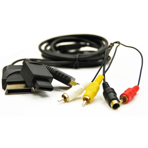 Arsenal Gaming AUSV401 Universal S-Video Cable, Black - PlayStation 2 by Arsenal Gaming