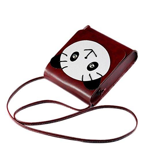 Transer Artificial leather Handbags & Single Shoulder Bags Women Zipper Bag Girls Hand Bag, Borsa a spalla donna Coffee 15cm(L)*18(H)*5cm(W) Wine